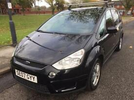 2007 FORD S-MAX ZETEC TDCI MPV 1.8 DIESEL (7 SEATS) SERVICE HISTORY(6 SPEED GEARBOX) 2 FORMER KEEPER