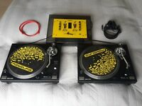 Sherwood PM9800 Decks, Synergy Mixer + leads, Stanton Stylus