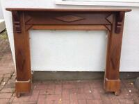 Wooden fire surround / shabby chic project
