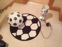 Football lighting and rug