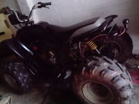 Adults quad bike 110cc reverse gear, tow ball fitted