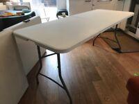 Folding portable 6ft trestle table - like new!