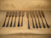 Set of 12 Matching Vintage Firth Stainless Steel Fish Cutlery