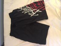 Billabong black shorts medium