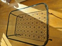 Black glass topped coffee table, Ikea Klingsbo