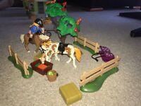 Girls Playmobil - 3 Separate Sets, Cafe, Horses & Mermaid