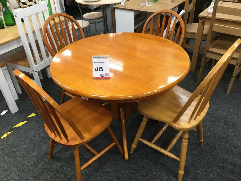 BHF Solid Pine Table And Chairs Leicester