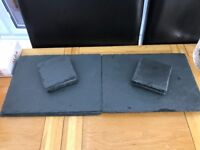 8 x Slate placemats and coasters