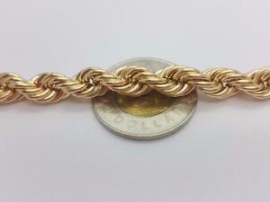bijoux chaine torsade JUMBO SIZE 8 mm en or 10 karat Neuf / Rope Chains 10 karat gold