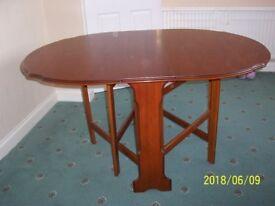 Rosewood Gate Leg Dining Table