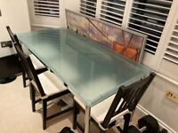 Designer Desk GALVOLUX Glass Chrome