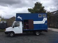 THREE TON HORSE BOX REAR LOADING SIDE JOCKEY DOOR NEW EXHAUST/BRAKES 9MTHS MOT ASK FOR MORE DETAILS