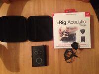 IK Multimedia iRig Acoustic Stage - almost unused condition