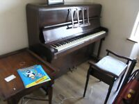 Upright Piano -Monington & Weston. Very good condition.