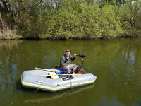 AVON Inflatable Boat, AVON Dinghy dingy rigid With 2X 12V Electric outboard Bison 62LB