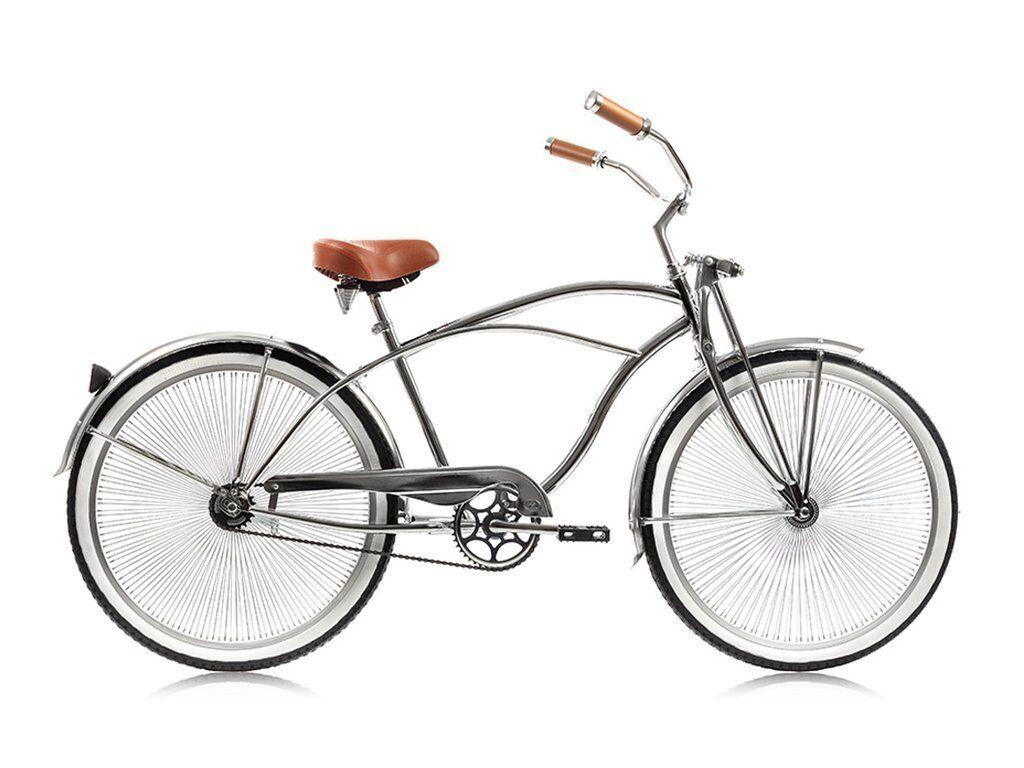 "Micargi Cougar GTS, Chrome - Men's 26"" Beach Cruiser Bike li"