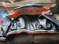 classic harley davidson leather bomber jacket