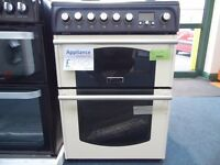 New Graded Cream Hotpoint 60cm Wide Cooker Ref: 13255