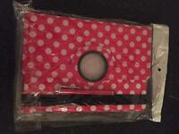 Red Polka dot iPad case for air 1 & 2