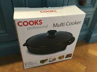 Brand New 'Cooks professional' Multi cooker table top Camping