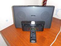 SONY Audio System with Clock radio with Apple Dock cradle