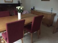 dining room table and 4 chairs + matching sideboard
