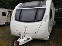 2012 Swift Coastline Excel 554 4 Berth Fixed Bed End Washroom Caravan with Motor Mover