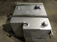 Split fuel/hydraulic tank