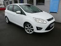 FORD C-MAX 1.6 TITANIUM TDCI 5d 114 BHP **1 YEAR MOT + AA RECOVERY** (white) 2012