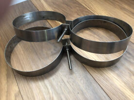 Stainless steel twinning bands 180mm Diameter would suit Faber cylinders