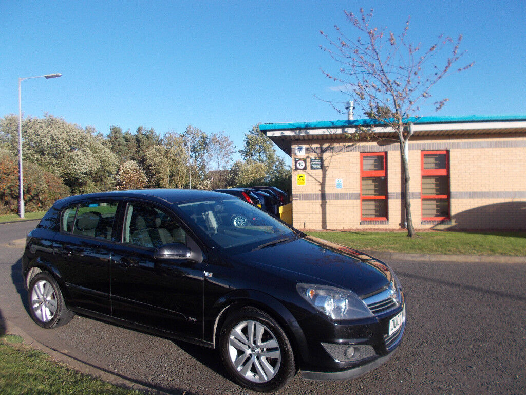 VAUXHALL ASTRA 1.6 SXI HATCHBACK 5 DOOR NEW SHAPE BLACK 2007 BARGAIN ONLY £1250 *LOOK* PX/DELIVERY