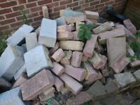 Used Bricks and left over stones