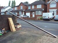 Freeflow brown square guttering 482 cm by 12cm