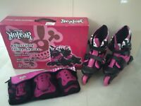 No Fear Inline skates and wrist / knee / elbow pads