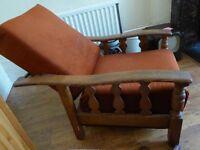 Antique Victorian Morris Reclining Chair