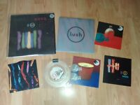 """7 x Lush - 4ad - spooky 2 x 10"""" / 12"""" for love / 7"""" nothing natural"""