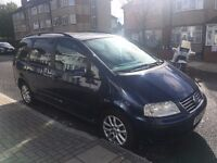 2004 Volkswagen vw sharan 1.9tdi blue 7 seater