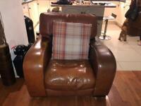 Antique leather suite