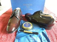 Barker creative collection, Rutherford style, Burgundy, Hi Shini smart/dress shoes, Size 6