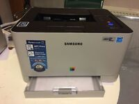 Samsung colour laser printer C410w with toners wifi iPad iPhone