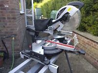 SIP 2000 Watt Sliding Mitre Saw with Laser guide and SIP stand