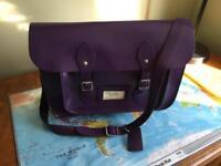 Purple leather satchel - excellent condition