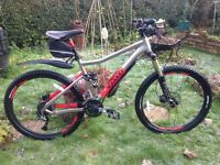 "Voodoo canzo full suspension mountain bike,18"" frame,26"" frame,magnum plus lock £50"