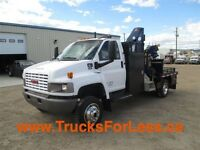 2009 GMC C5500 4X4, PICKER + CUSTOM SERVICE DECK!!!