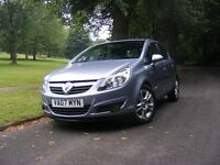 2007 plate vauxhall corsa sxi 5dr in met silver lake,f.s.history/full mot
