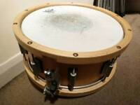 """Drum Craft Lignum Maple 14"""" Snare Drum with Wooden Hoops"""