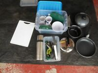 COMPLETE COOKWARE AND CROCKERY SET