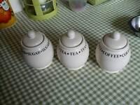 Tea, coffee and sugar jars