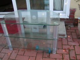 Clear glass TV stand/unit