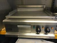 Chrome top burger breakfast griddle commercial catering kitchen equipment restaurant catering